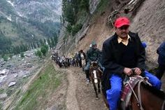 The fifth batch of 1243 pilgrims today left for Amarnath shrine from base camp amid tight security, police said. Amarnath Temple, Higher Truth, Mens Sunglasses, Pilgrims, Hinduism, Caves, Travel Pictures, Travel Inspiration, Police