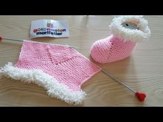 Easiest baby booties / knit baby booties / New baby booties with two skewers - Babykleidung Baby Knitting Patterns, Free Knitting, Crochet Patterns, Knit Baby Booties, Baby Boots, Knitted Hats, Crochet Hats, Crochet Hat For Women, Viking Tattoo Design