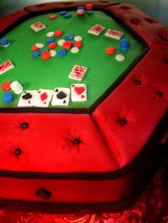 Gambling Card Table Close-up Cake
