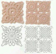 Hooked on crochet: motifs Beau Crochet, Crochet Diy, Love Crochet, Irish Crochet, Crochet Flowers, Crochet Hooks, Crochet Doilies, Beautiful Crochet, Crochet Motif Patterns