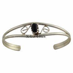 Judy Lincoln Sterling Silver Onyx Baby Bracelet Navajo Native American Jewelry $16