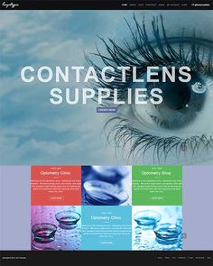 Contactlens Supplies Webshop – Webshop Websore startup shops for sale