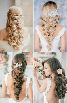 beautiful wedding hairstyles♥