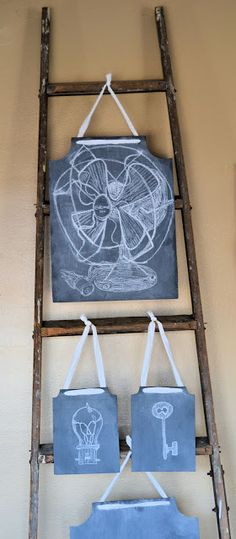 I can make and sell these in my shop Shabby Love: Restoration Hardware Inspired Chalkboards Chalkboard Paint, Chalk Paint, Chalk It Up, Chalkboards, Restoration Hardware, Make And Sell, Home Projects, Ladder Decor, Repurposed