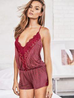 Supersoft Crochet-trim Sleep Romper Body by Victoria