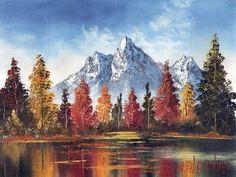 "Visit us at: https://www.alexanderart.com Bill Alexander, the ""Original Happy Painter"" paints a beautiful mountain scene. Alexander Oil Colors: Titanium Whit..."
