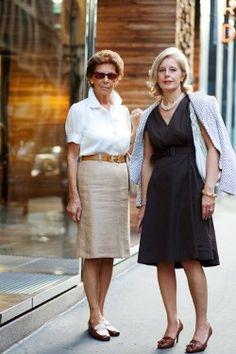 two women in Milan...linen!