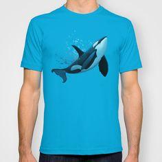 "Apparel ••• ""The Dreamer"" orca, bull killer whale art by Amber Marine ••• AmberMarineArt.com •••"
