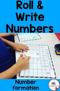 Use these fun roll and write worksheets in your math centers in kindergarten or first grade. They are also great for prek activities. Students roll to see which number to write and practice their letter formation and letter recognition. Laminate and use over and over in your math centers or assign as independent work.