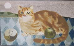 Mary Fedden | Cat With Apples