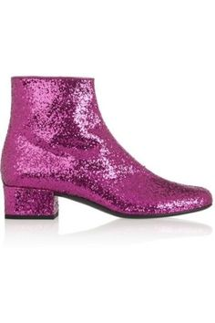 NEW-Saint-Laurent-Pink-Glitter-Sparkle-Ankle-Boots-Stunning-Day-Evening-36-6