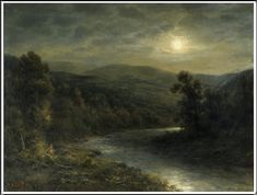 Thomas B. Griffin (1858–1918), Moonlight on the Delaware River - 1896/1915