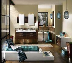 Deco zen salle de bains moderne