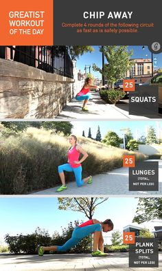Greatist Workout of the Day: Chip Away #fitness #bodyweight #workout