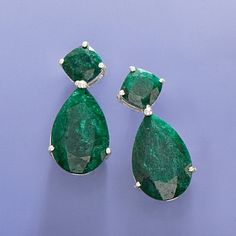 """""""Elegant and decadent. If you watch the Real Housewives of BH these are exactly like the ones Kyle wears. You will feel like a celebrity when you put these on and be ready for the attention you will get when wearing them."""" -Jewelry snob, Seattle, Washington. >>Click on the Emerald Earrings to see more options at Ross-Simons."""