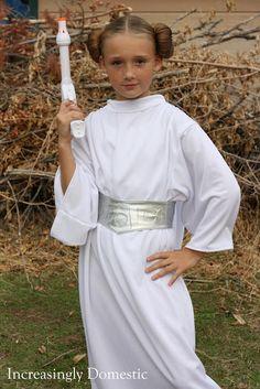 Increasingly Domestic: {Handmade} Princess Leia Costume with hood