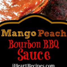 This homemade BBQ packs a sweet punch with mango, peach, and a touch of bourbon. Perfect for so many recipes, you'll love testing this BBQ sauce on everything! I Heart Recipes, New Recipes, Favorite Recipes, Peach Puree, Mango Puree, Bourbon Bbq Sauce Recipe, Peach Syrup, Homemade Bbq, Recipe Cards