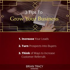 Growing a small business takes a lot of sweat, hard work, and sleepless nights. When you have your own business you have multiple options to increase your profits. You can use these 3 strategies to grow your business. Self Development Courses, I Will Succeed, Brian Tracy, Sleepless Nights, Business Advice, Growing Your Business, Time Management, Hard Work, Leadership