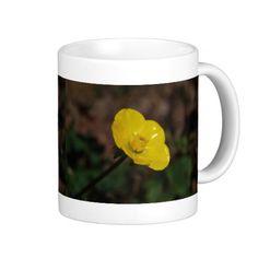 Single Yellow Buttercup Mug