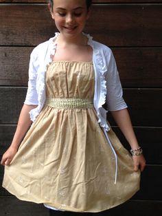 Flicka Dress Sandy Floral Embroidery, Lollie Flower tie, idyllic 5th grade graduation dress