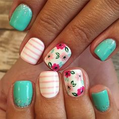 Nail Care For Men inside Nail Designs For Short Nails Pictures till Nail Art Design 2019 Pig Cute Summer Nail Designs, Nail Design Spring, Cute Summer Nails, Summer Gel Nails, Flower Nail Designs, Fall Toe Nail Designs, Nail Designs For Kids, Striped Nail Designs, Summer Toenails
