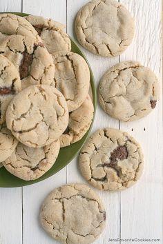 Chocolate Stuffed Peanut Butter Cookies from JensFavoriteCookies.com - for #chocPBday !