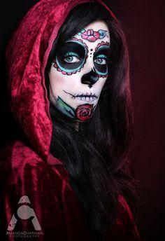 Halloween makeup Sugar Skull by Amanda Chapman https://www.facebook.com/amandachapmanphotography