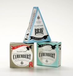 These well designed cheese packages look so great we wouldn't even want to open them.   Cheese Packaging