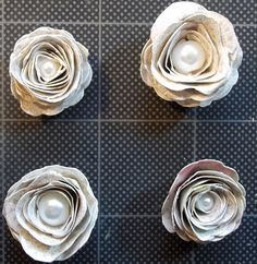Scattered Pictures and Memories: Quick and Easy Fussy-Cut Doily Rolled Rose Tutorial