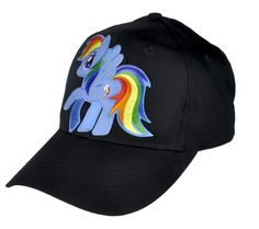 - Rainbow Dash Hat / Baseball Cap - High Quality Stitching - Cotton Twill - Embroidered Cotton Patch - One size fits most! - Adjustable Plastic Snap Back Pop Culture Meme Style Clothing from YDS Acces