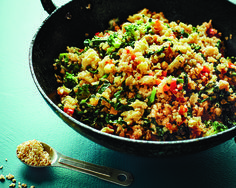 "WITH SOME MINOR MODIFICATIONS - Cook This For Dinner Tonight: Quick Quinoa Fried ""Rice"" - mindbodygreen"