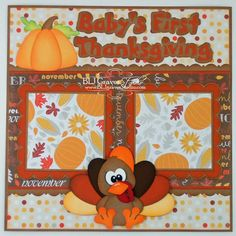 baby's first thanksgiving scrapbook layout | Files for this scrapbook page from Little Scraps of Heaven Designs.