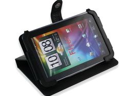 Navitech Black Executive Premium Leather Flip Carry Case With Stand  Stylus Holder For The HTC EVO View 4G  The HTC FLYER 7 Inch Android PC Tablet Device 16GB 32GB 64GB 3G  WiFi