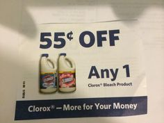 (10) Clorox Bleach Product ~ October 7, 2014 ~ $0.55 on ONE