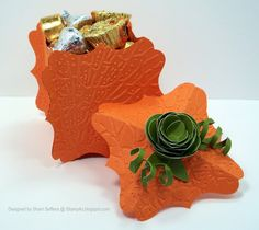 Halloween Treat holder by sseffens - Cards and Paper Crafts at Splitcoaststampers Fall Paper Crafts, Halloween Paper Crafts, Candy Crafts, Crafts To Do, Holiday Crafts, Halloween Treat Holders, Halloween Favors, Halloween Cards, Holidays Halloween