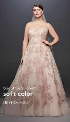Searching for stunning colorful wedding dresses? Find a plethora of beautiful colored wedding gowns & dresses with color accents at David's Bridal today! Colored Wedding Gowns, Wedding Colors, Wedding Styles, Classic Wedding Dress, Big Thing, Plus Size Wedding, Wedding Inspiration, Wedding Ideas, Wedding Stuff