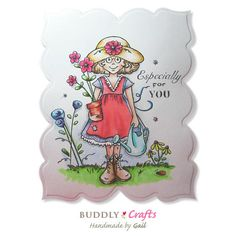 Kim's Digi Stamp - Coming Up Daisies | Buddly Crafts