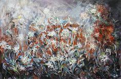 Wild flowers I/ painting, acrylic on canvas