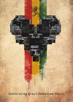 International Reggae Poster Contest 2013 by Daniel Sanches, via Behance
