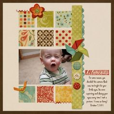 #papercraft #Scrapbook #layout    Hilarious-1 4X6 Photo