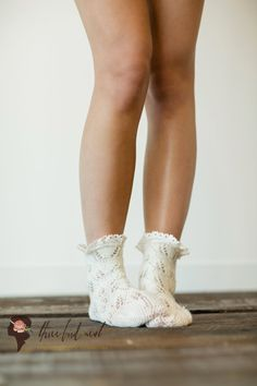 Boot socks: Ankle Socks Knitted Lace Socks Short Boots Socks b. Frilly Socks, Lace Socks, My Socks, Ankle Socks, Lace Knitting, Knitting Socks, Short Socks, Material Girls, My Style