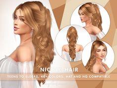 Mods Sims 4, Sims 4 Mods Clothes, Sims 4 Clothing, Sims 4 Cas, Sims Cc, Rogue Hair, The Sims 4 Cabelos, Pelo Sims, 4 Braids