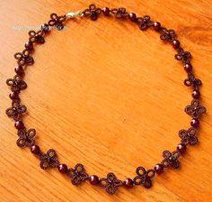 Frywolitkowa biżuteria - Renulka frywolitki