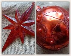 an Uninterrupted view: Tattered Angels - Red Painted DIY ornaments