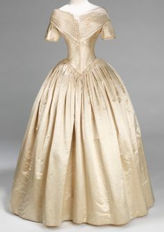 Wedding dress  Date: 1840–42 Culture: American Medium: silk