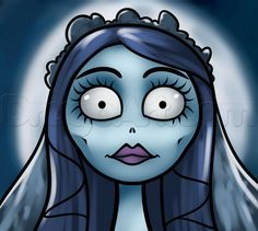 How to Draw Emily From Corpse Bride, Step by Step, Characters, Pop ...