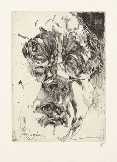 "Horst Janssen, Selbstportrait ""barock"", (1982)"