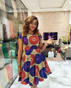 Beautiful Africa Print Awekia Ankara Girls Sleeveless Dress