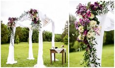 Lavender & lace interfaith wedding chuppah
