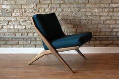 Vintage Folke Ohlsson scissor chair by Dux - Newly upholstered.  ---------------  $725  - reform objects
